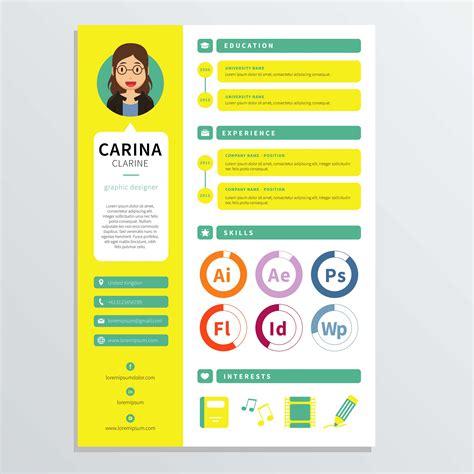 graphic designer resume template   vector