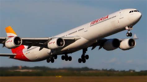 RARE IBERIA Airbus A340 600 Landing & Takeoff Helsinki