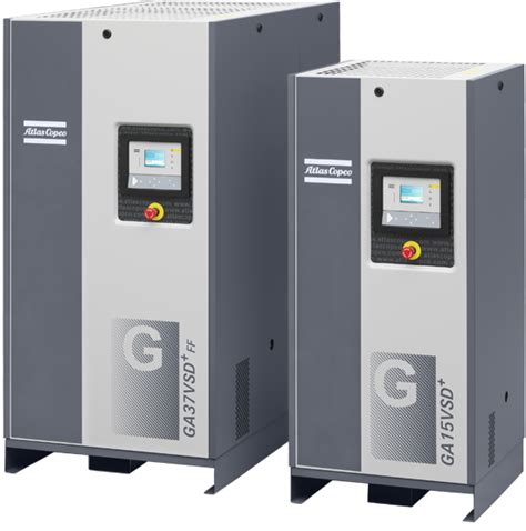 shop air technologies 174 ga 7 vsd plus series injected compressors from atlas copco