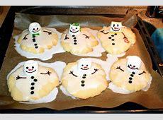Geschmolzene Schneemänner ausgefallene Plätzchen für