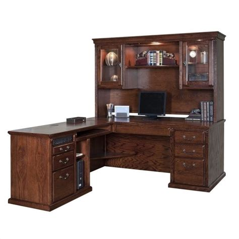 executive desk with hutch kathy ireland home oxford l shape executive desk with