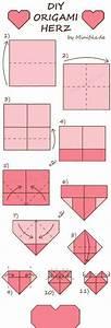 Herz Falten Origami : stappenplan origami hartje vouwen origami valentijnsdag en knutselen ~ Eleganceandgraceweddings.com Haus und Dekorationen