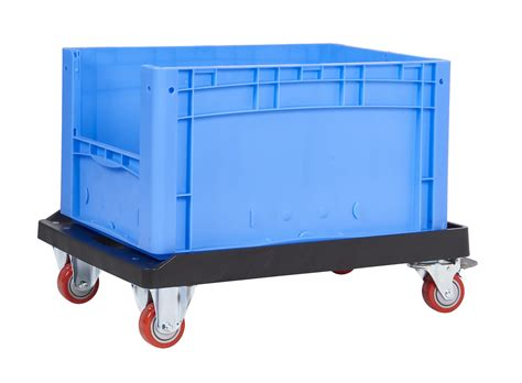 Heavy Duty Plastic Container Dolly  Workplace Stuff