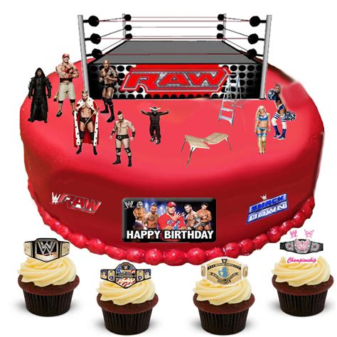 wwe wrestling happy birthday scene edible premium wafer
