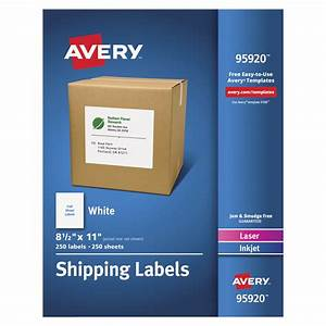 avery laser inkjet printer white shipping labels 8 1 2 x With avery large labels