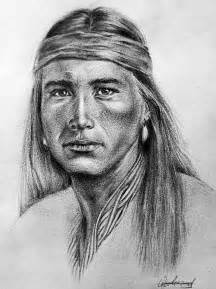 Pencil Drawings Native American Men