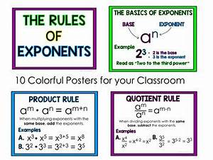 Chart Ideas For Powerpoint Laws Of Exponents Posters By Amy Hearne Amy 39 S Angle Tpt
