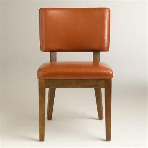 cognac bonded leather sophia chairs set of 2 world market