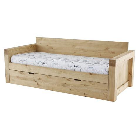canapé en bois massif canapé 2 places microfibre et bois massif avec