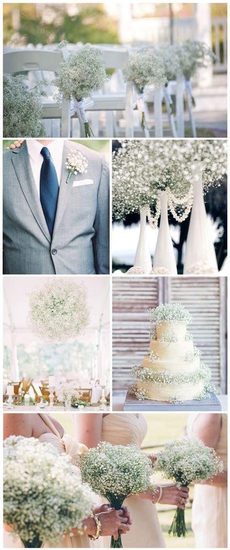 affordable wedding flowers babys breath wedding