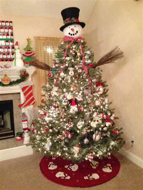 snowman christmas tree  images christmas tree