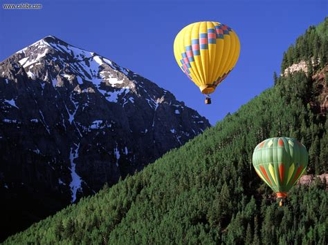 nature ballooning telluride colorado picture nr
