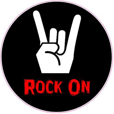 peel and stick vinyl rock on sticker