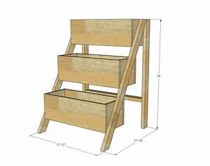 Ana White Build a $10 Cedar Tiered Flower Planter or