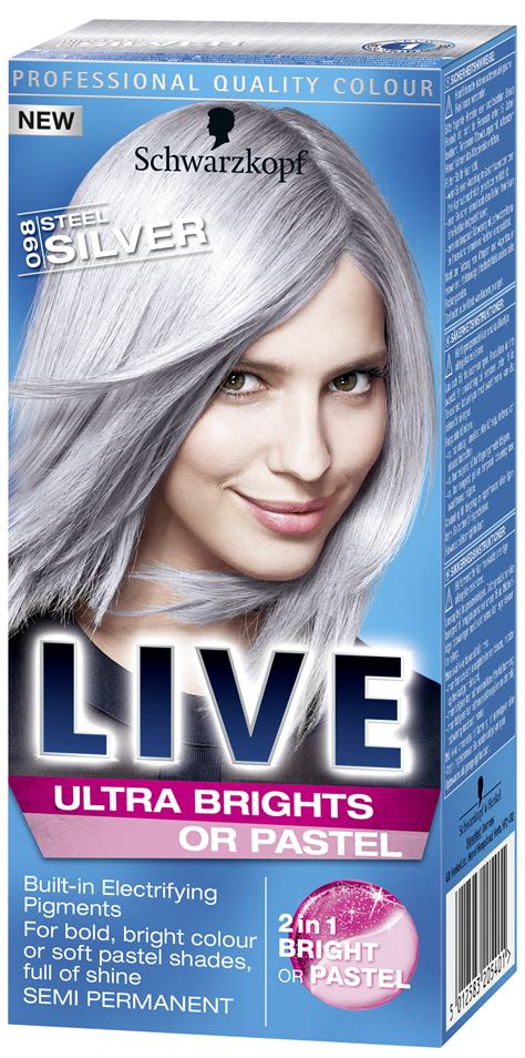 ultra brights  pastel steel silver silver hair dye