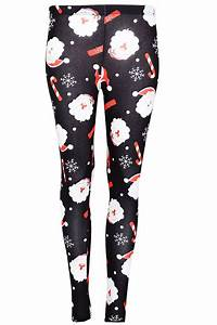 Womens Christmas Xmas Santa Snowman Reindeer Rudolph Stretchy Jeggings Leggings | eBay