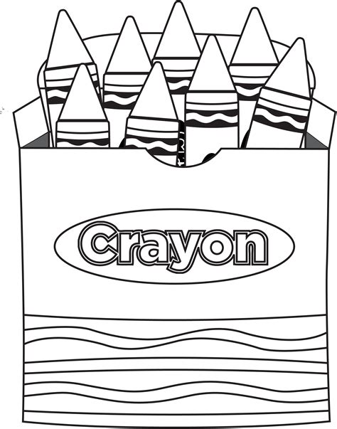 crayon coloring pages printable crayon