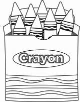 Clip Crayon Clipart Coloring Box Pages Clipartion sketch template