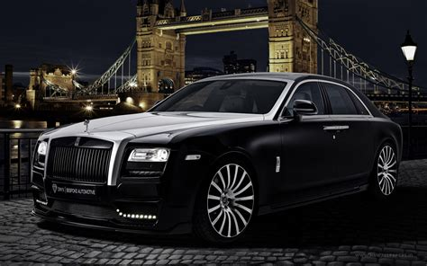 2015 Onyx Rolls Royce Ghost San Mortiz Wallpaper