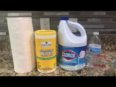 DIY Homemade Disinfectant Wipes / Clorox wipes - YouTube