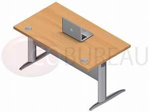 Bureau 140 Cm : bureau avec plateau droit 140 cm rev tement en m lamin ~ Teatrodelosmanantiales.com Idées de Décoration