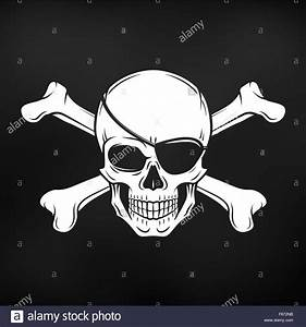 Jolly Roger with eyepatch and crossbones logo template ...
