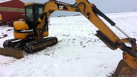 cat cr mini excavator  thumb youtube