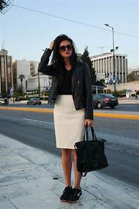 e362329d42 Street style Athens Greece black and white leather black leather leather  jacket white .