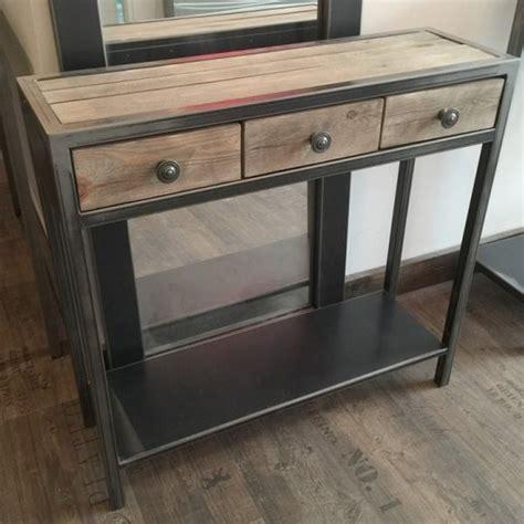 bahut de cuisine pas cher meuble d 39 entrée métal à tiroir console métal console