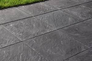 Dalle De Jardin Beton : dalle en b ton ardois 50x50 cm ep 44 mm brico d p t ~ Melissatoandfro.com Idées de Décoration
