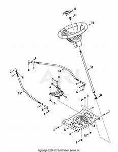 Troy Bilt 13aaa1kt066 Tb2246  2015  Parts Diagram For Steering
