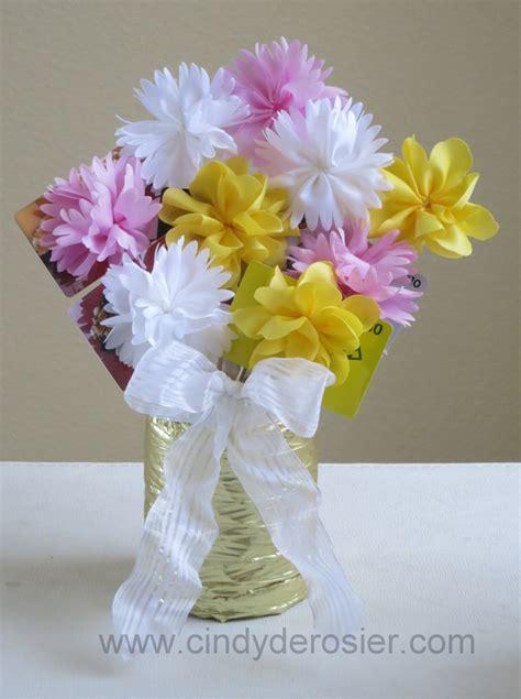 fabric flower gift card bouquet favecraftscom