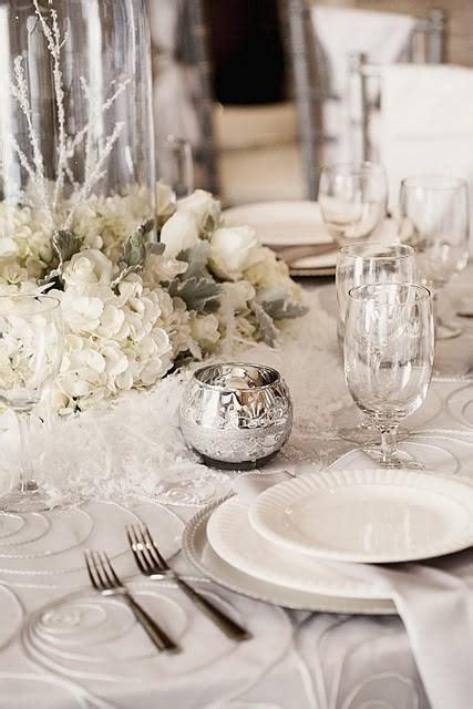 winter table settings winter wedding winter wedding ideas 2082291 weddbook