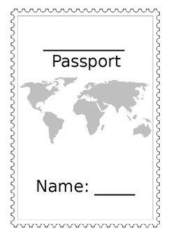editable passport template editable passport template by emily s teachers pay teachers
