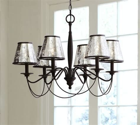 glass chandelier shades antique mercury glass chandelier shade set of 3 pottery