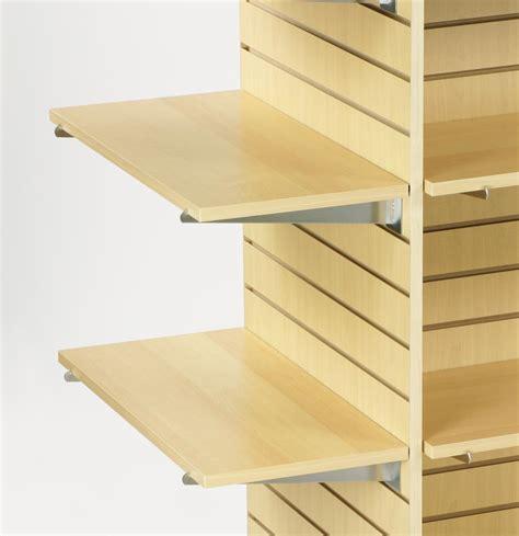 Maple Laminate Slatwall Shelf Flat Panel Design