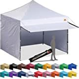 amazoncom quik shade summit instant canopy double full wall awnings feet