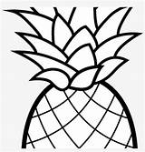 Pineapple Coloring Clipart Cartoon Camping Nicepng sketch template