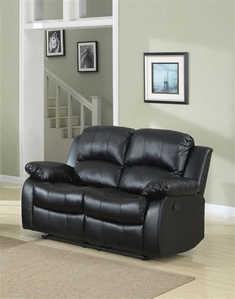 black leather recliner loveseat reclining loveseat bonded leather living