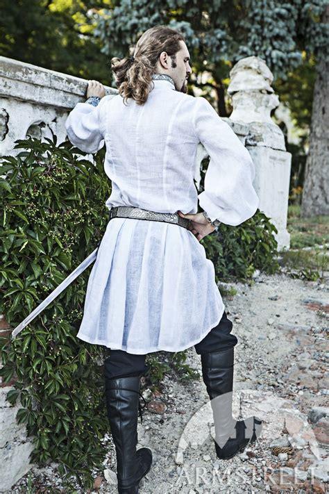 medieval wedding mens shirt   black fine