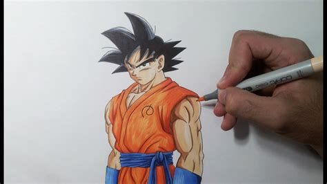 drawing goku resurrection  fukkatsu   youtube