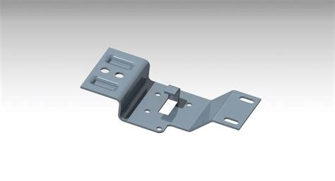 sheet metal bracket catia nx stl step iges