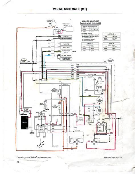 Walker Mower Wiring Schematic by Ra 150
