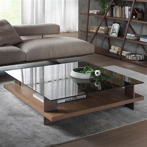 square coffee table with glass insert 29 chic glass coffee tables that catch an eye digsdigs