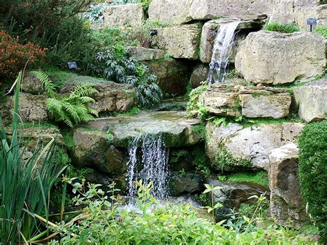 rock garden with waterfall rock garden waterfall for the outdoors pinterest gardens water features and garden water