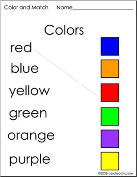 color matching activities for preschool worksheets and matching colors preschool primary 941