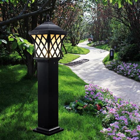 solar led outdoor l post outdoor solar l post lights reusable revolution 3 led