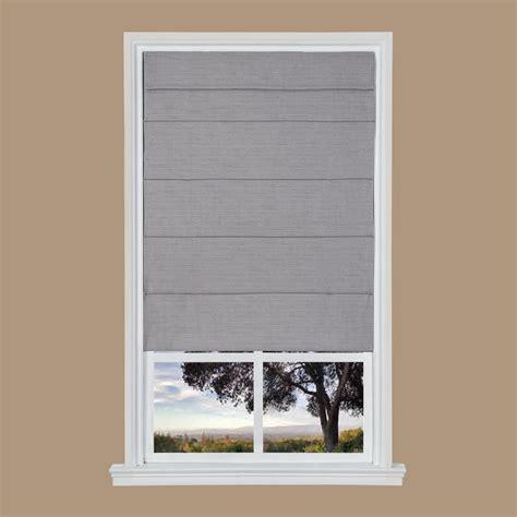 Gray Texture Cordless Fabric Roman Shade  39 In W X 64