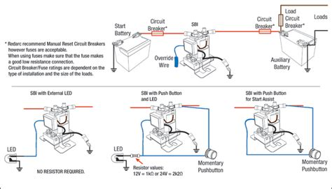 basic sbi install wiring diagrams redarc electronics