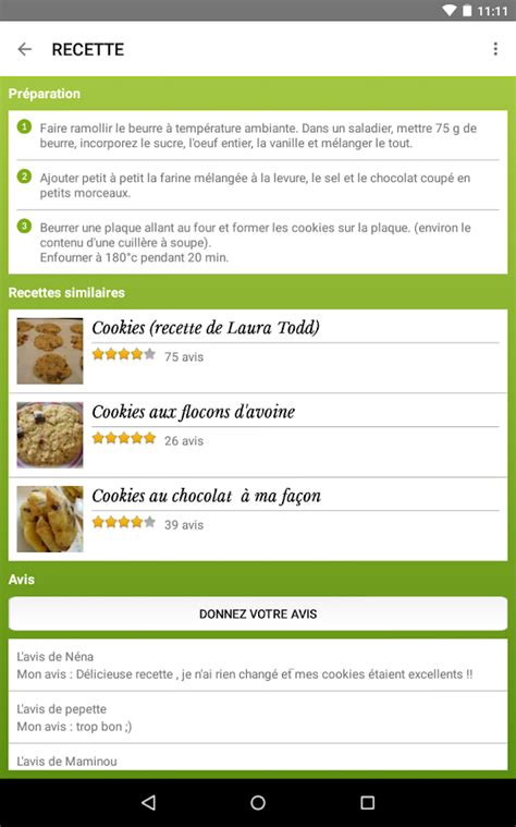 application android cuisine cuisine 45 000 recettes applications android sur